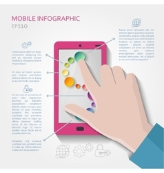Mobile infographic concept vector