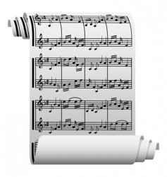 music manuscript vector image