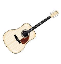 pale acoustic guitar vector image