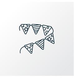 paper garland icon line symbol premium quality vector image