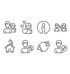 people communication teamwork and user vector image
