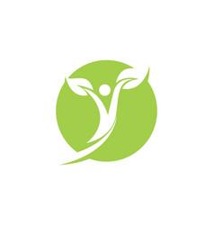 People healthy life logo template icon vector