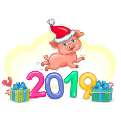 pig year 2019 vector image