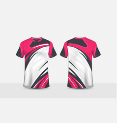 Pink white and black pattern layout e-sport design vector