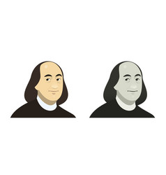 Portrait of benjamin franklin the famous usa vector