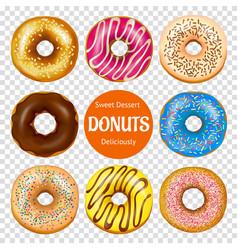 Realistic donuts set vector