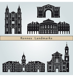 rennes landmarks and monuments vector image