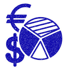 sales pie chart icon grunge watermark vector image