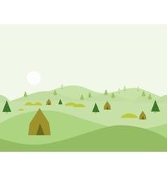 Seamless Cartoon Nature Landscape vector