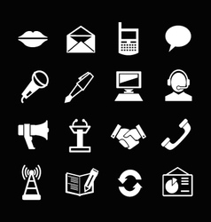 set icons communication vector image