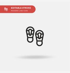 shoe prints simple icon vector image