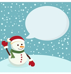 Snowman Blue Notes vector image