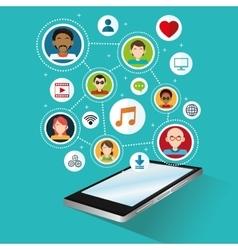 Social media design gadget icon Multimedia vector image