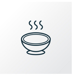 soup icon line symbol premium quality isolated vector image