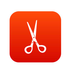 stationery scissors icon digital red vector image