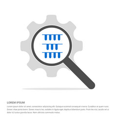 test tube icon search glass with gear symbol icon vector image