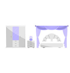the interior of the bedroom vector image