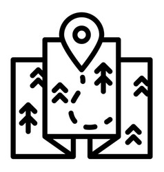 travel map route icon outline style vector image