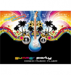 tropical music event flyer vector image
