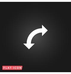turn arrow icon vector image