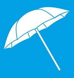 Umbrella icon white vector