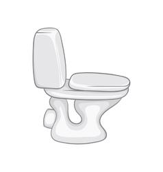 White toilet bowl icon cartoon style vector image