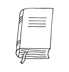 Book icon isolated vector image vector image