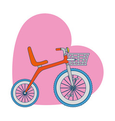 cute tricycle with heart vector image