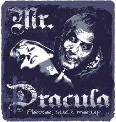 Dracula sucks up vector