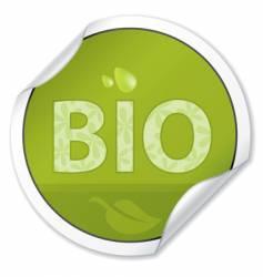 bio sticker vector image vector image