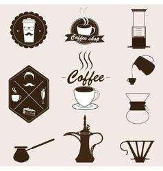 Coffee set Retro style vector image vector image