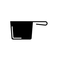 ladle icon black sign on vector image vector image