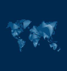 modern digital world map technolgoy concept design vector image vector image