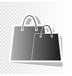 shopping bags sign new year blackish icon vector image vector image