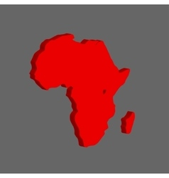 The African continent vector image vector image