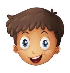A face of a boy vector image vector image