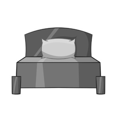 Bed icon black monochrome style vector image vector image