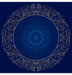 Frame with vintage floral patterns vector image vector image