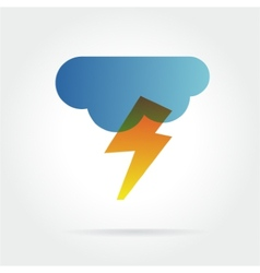 lightning icon with cloud concept for design vector image