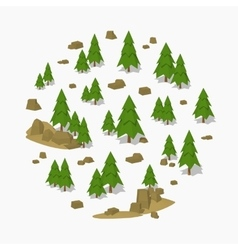 Pine tree forest vector image vector image