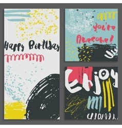 Set of abstract Greeting cards vector image vector image