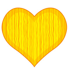 abstract wood heart vector image vector image
