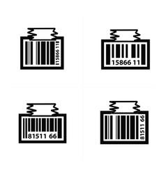 barcode design tag icon vector image