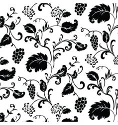 grape vine pattern vector image vector image