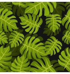 Seamless tropic leafs background Floral summer vector image