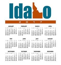 2017 Idaho calendar vector image