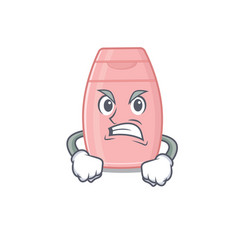 A cartoon picture baby cream showing an angry vector