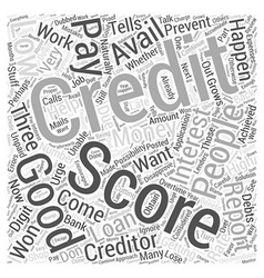 A Good Credit Score Word Cloud Concept vector