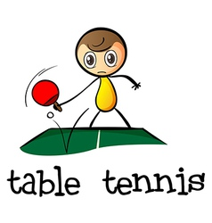 A stickman playing table tennis vector