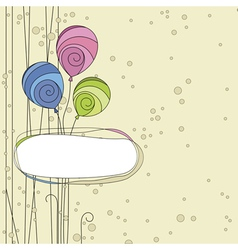 Abstraction background with balloons vector